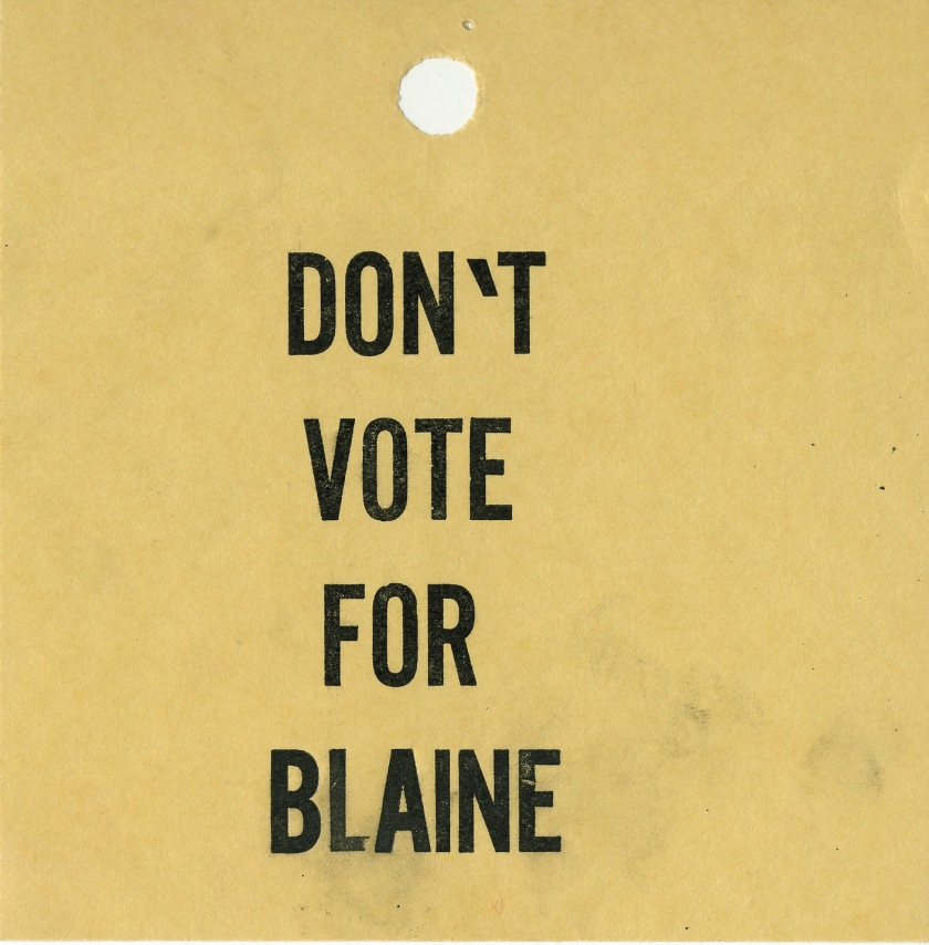 don't vote for blaine